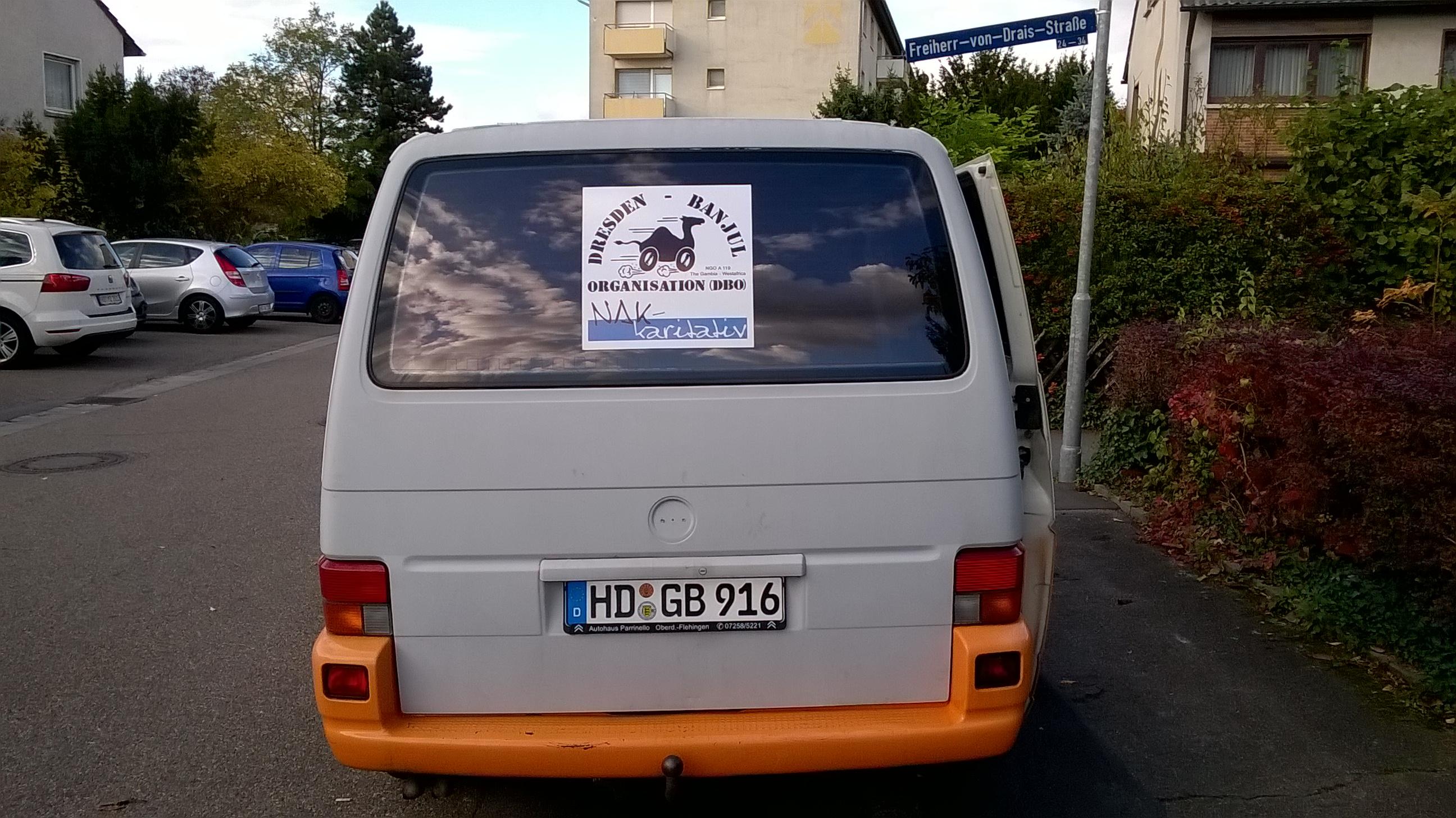 VW-Bus hinten